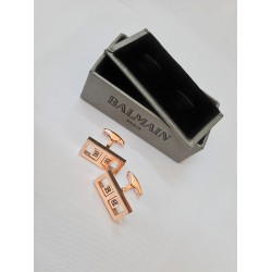 كبك ذهبي هولو بيلماين Balmain Hollow CuffLink Gold