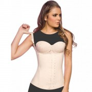 مشد ان شيري الكولومبي ANN CHERY 2028 Semi-vest Latex Waist Training Cincher Beige