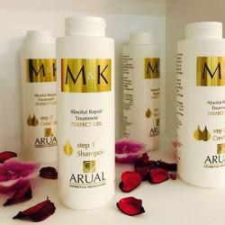 شامبو M&K الاسباني للعنايه بالشعر بعد البروتين والكرياتين M&K Absolut Repair Treatment Step1 Shampoo 400ml