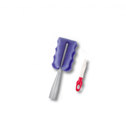 فرشاة تنظيف الرضاعة 2في1 اديري Adiri Deluxe Bottle Brush Silver/Purple