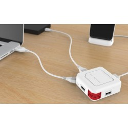 شاحن و توصيلة بأربع مداخل  PowerUSB HUB UK 4 USB ports
