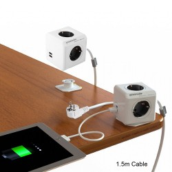 وصلة المكعب الذكي USB مع سلك 1.5م PowerCube Extended 1.5m USB UK