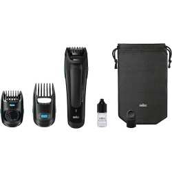 براون ماكينة تهذيب اللحية Braun BT5050 Beard Trimmer With 2 Comb Attachments + Soft Bag