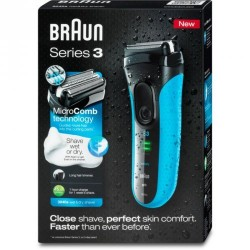 براون ماكينة حلاقة سيريس 3 Braun Series 3 3040s Wet & Dry Cordless Shaver With Long Hair Trimmer