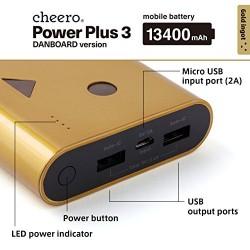 شاحن دانبورد شيرو المتنقل 13400 ملي أمبير الياباني cheero Power Plus DANBOARD VERSION 13400 with auto IC