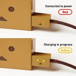 كابل دانبورد شيرو الذكي و المضيء و المصرح من أبل 100سم الياباني Apple MFi Certified cheero DANBOARD Lightning to USB Cable 3.2ft/ 100 cm
