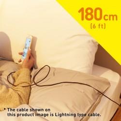 كابل دانبورد شيرو الذكي و المضيء و المصرح من أبل 180سم الياباني Apple MFi Certified cheero DANBOARD Lightning to USB Cable 6ft/ 180cm