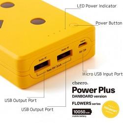 شاحن دانبورد شيرو المتنقل 10050 ملي أمبير الياباني cheero Power Plus DANBOARD VERSION 10050 with auto IC