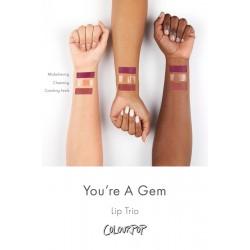 مجموعة ارواج الترا ساتين انت جوهرة كلربوب Colourpop You're A Gem Lip Trio