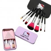 مجموعة فرش مكياج هيلوكيتي 7 pcs set Hellokitty Makeup brush suit Cute cartoon box