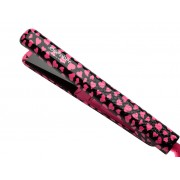 مكواة تمليس الشعر 1 انش من جوسي بير Jose Eber Pro Series / STYLING IRON 100% Ceramic Flat Iron 1 inch PINK HEART PATTERN