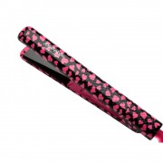 مكواة تمليس الشعر 1.25 جوسي بير برو Jose Eber Pro Series / STYLING IRON 100% Ceramic Flat Iron 1.25 inch PINK HEART PATTERN