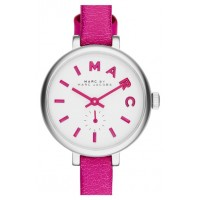 ساعة مارك باي مارك جاكوبس (زهري) MARC BY MARC JACOBS (Sally) Round Leather Strap Watch, 28mm - Pink