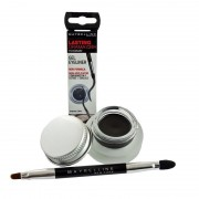 ايلاينر لاستينق دراما ميبيلين Maybelline Lasting Drama by Eye Studio Gel Eyeliner Noir Black 2 Brushes in 1 Define