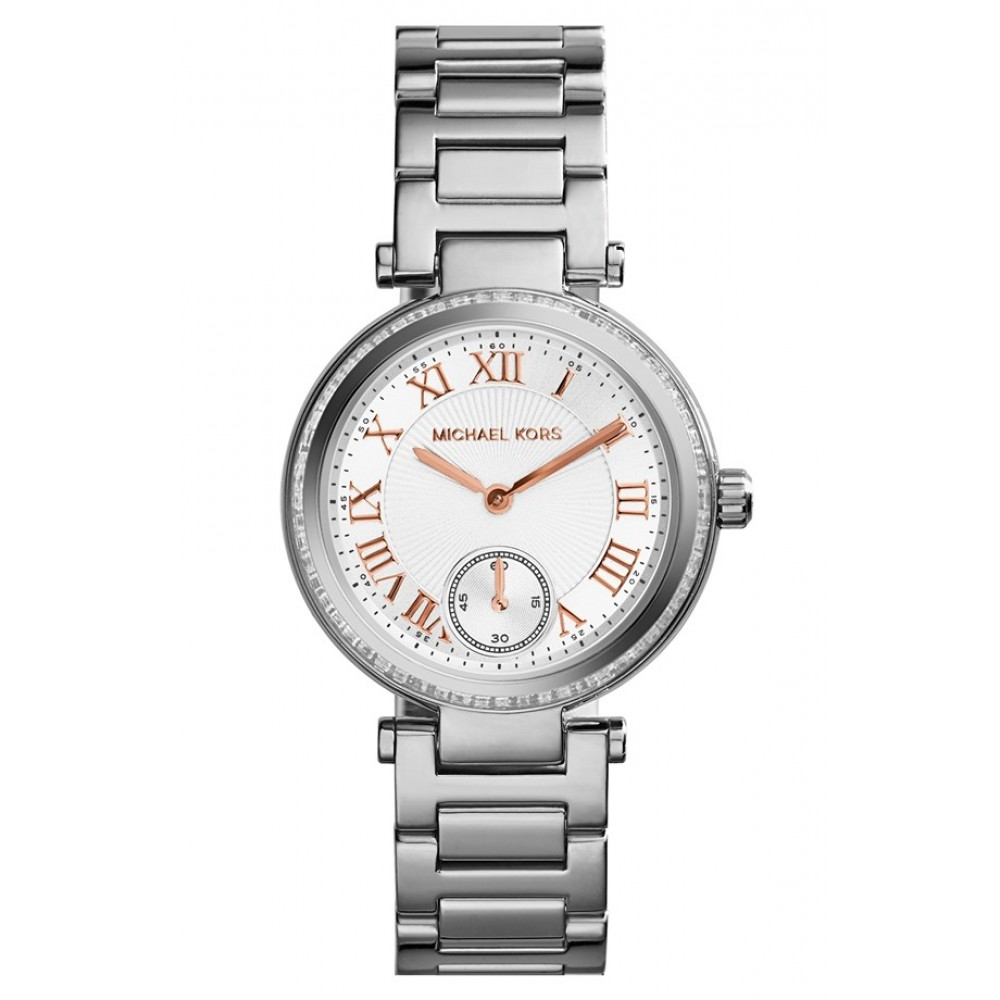 bd78ec27f ساعة مايكل كورس Michael Kors Skylar - Small Crystal Bezel Bracelet Watch,  33mm ...