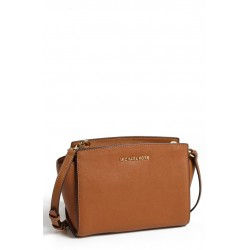 حقيبة مايكل كورس MICHAEL Michael Kors 'Medium Selma' Saffiano Leather Crossbody Bag