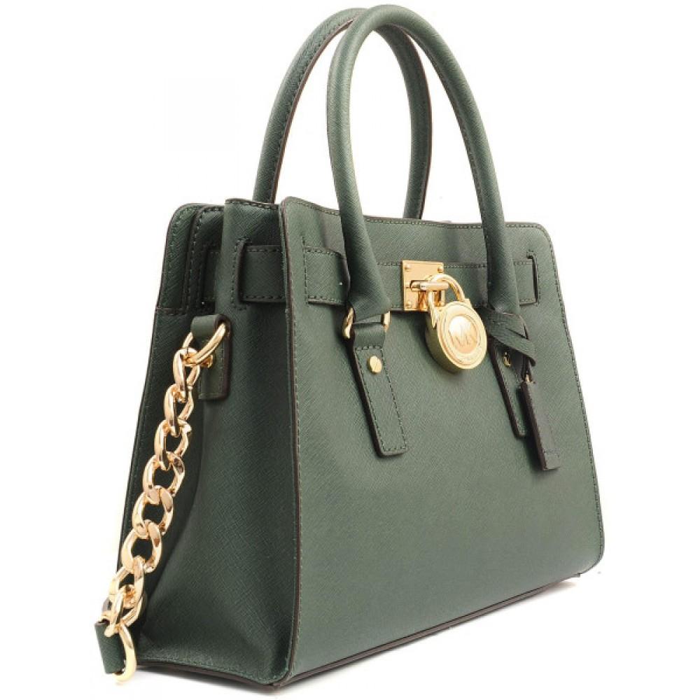 7f8efdff2eb12 ... حقيبه مايكل كورس Michael Kors Hamilton - Mini Leather Messenger Bag ...