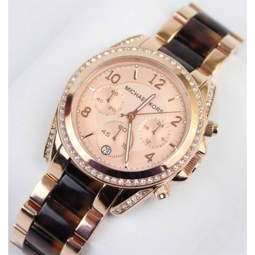 09bb8956c ... ساعة مايكل كورس Michael Kors Blair Two-Tone Bracelet Watch, 39mm ...