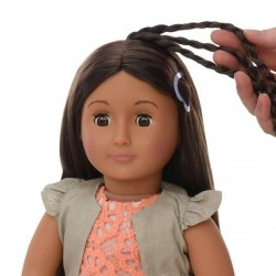 دمية اور جنيراشن فلورا Our Generation Hair Grow Doll  Flora