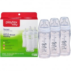 مجموعة رضاعات بأكياس حليب 300 مل بلايتكس Playtex Baby Nurser Baby Bottle with Drop-Ins Disposable Liners 3 Pack