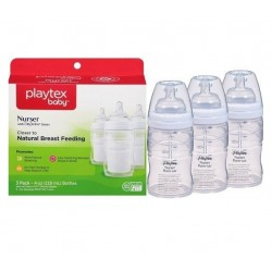 مجموعة رضاعات بأكياس حليب 118مل بلايتكس Playtex Baby Nurser Baby Bottle with Drop-Ins Disposable Liners 3 Pack