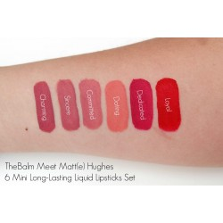 مجموعة ارواج هاقز ميني ذا بالم Meet Matte Hughes® Set of 6 Mini Long-Lasting Liquid Lipsticks