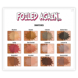 باليت ايشادو ذا بالم فوليد اقين Foiled Again Foil Eyeshadow Palette