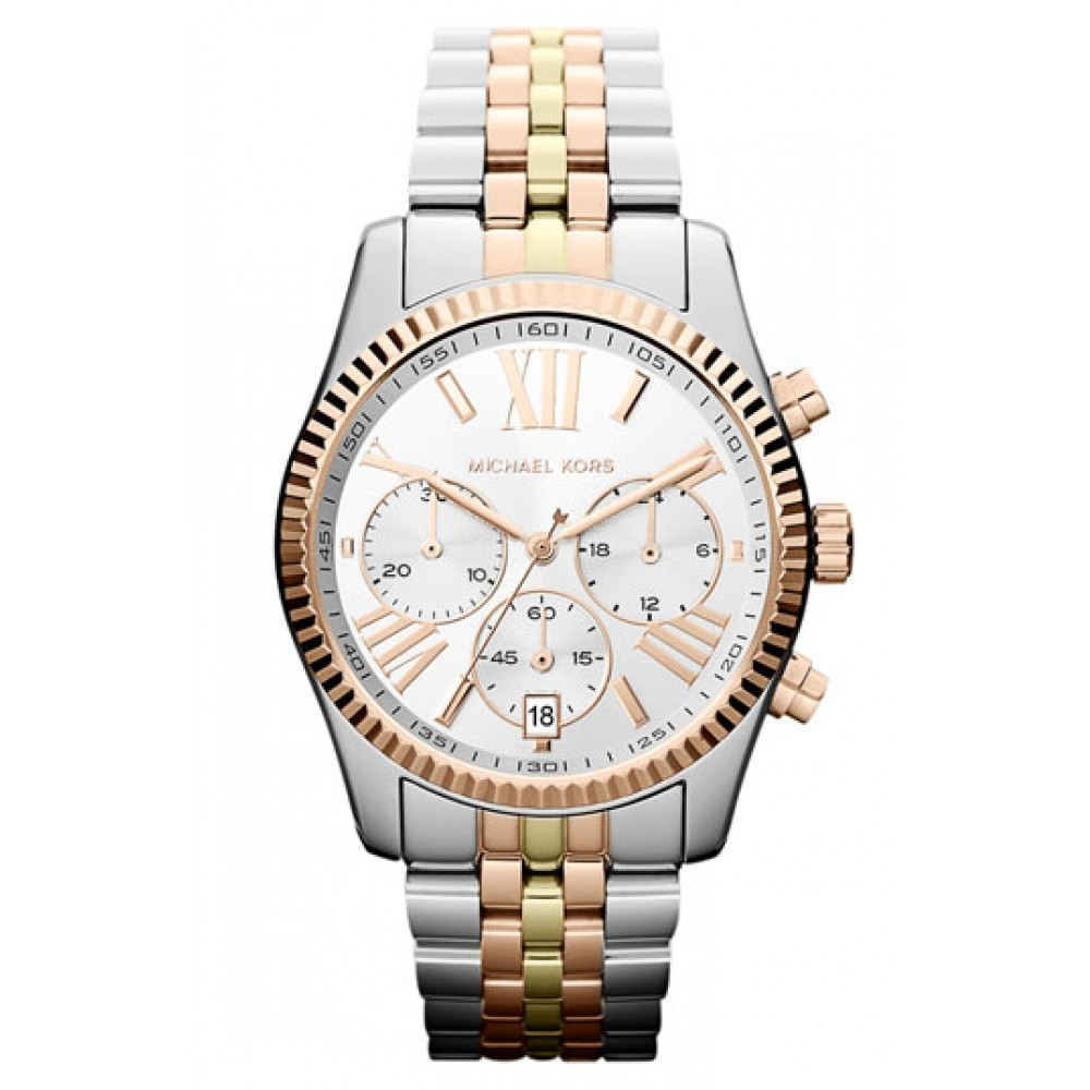 8b252dbc3552c ساعة مايكل كورس Michael Kors  Lexington  Chronograph Bracelet Watch ...