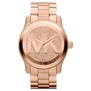 ساعة مايكل كورس Michael Kors Runway Logo Dial Bracelet Watch, 45m