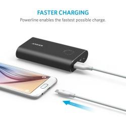 انكر كابل مايكرو للهواتف الذكية يو اس بي لون ابيض 1.8 متر PowerLine Micro USB (6ft / 1.8m) / White