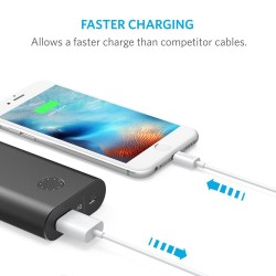 كابل انكر للايفون لون ابيض Premium 3ft Lightning to USB Cable / White