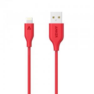 انكر كابل باور لاين 3ft احمر للايفون  Anker PowerLineLightning Cable 3ft / Red