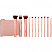 مجموعة فرش ميتال روز Metal Rose – 11 Piece Brush Set With Cosmetic Bag