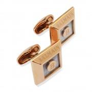 كبك مجوهرات رجالية بيراميدس جولد من بيلماين Balmain Pyramids  CuffLink Gold