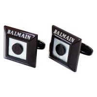 كبك مجوهرات رجاليه بيراميدس اسود من بيلماين Balmain Pyramids CuffLink Black