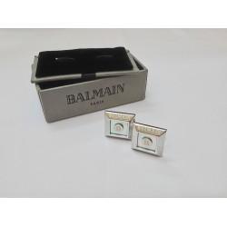كبك رجالي بيراميدس فضي من بيلماينBalmain Pyramids CuffLink Silver