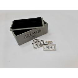كبك فضي هولو من بيلمان Balmain Hollow CuffLink Silver