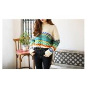 سويتر اوف وايت ملون Hidari - Patterned Thick Sweater -  Off White
