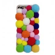 كفر جوال كاندي ملون للايفون 6 Iphone 6 3D Cartoon warm candy color plush ball