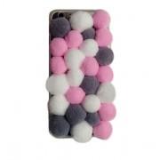 كفر جوال كاندي لون زهري للايفون 6 بلس Iphone 6 plus 3D Cartoon warm candy color plush ball2