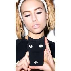 كفر كيوت بلاك كات للايفون 6 بلس و ايفون 6 اس بلس 3D cartoon animals cute black cat Iphone 6 plus & 6s plus
