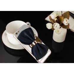 كفر فيونكة بخلفية عاكسة للايفون 6 و ايفون 6 اس لون اسود 3D Cartoon black pu bow mirror design Iphone 6 & 6s