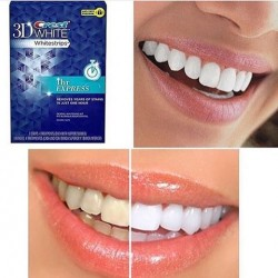 لصقات تبيض خلال ساعة كرست Crest 3D White 1 Hour Express Teeth Whitening Strips 4 Count