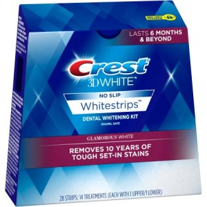 لصقات كرست ثري دي لتبيض فاتن Crest 3D White Whitestrips Glamorous White Dental Whitening Kit
