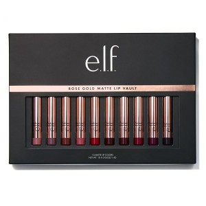 مجموعة ارواج ايلف روز قولد E.L.F. Rose Gold Matte Lip Vault