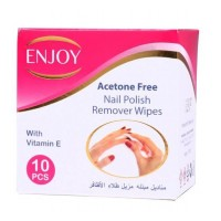 انجوي مناديل لازالة طلاء الاظافر enjoy nail polish remover wipes 10 pieces