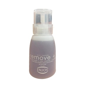 مزيل طلاء الاظافر انجوي اسيتون  enjoy remove plus acetone nail polish remover 150ml