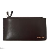 محفظة رجالية جلد بني من تصميم بولابو Pulabo Wsllet