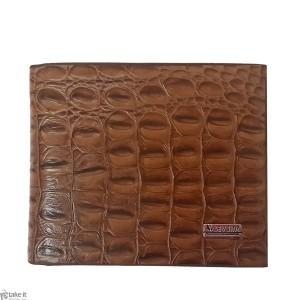 محفظة رجالية جلد بني من تصميم سيف جنك  sev jink  Wallat brown