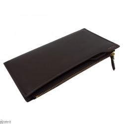 محفظة رجالية جلد بني من تصميم واي كيه اس اس YKSS Wallet